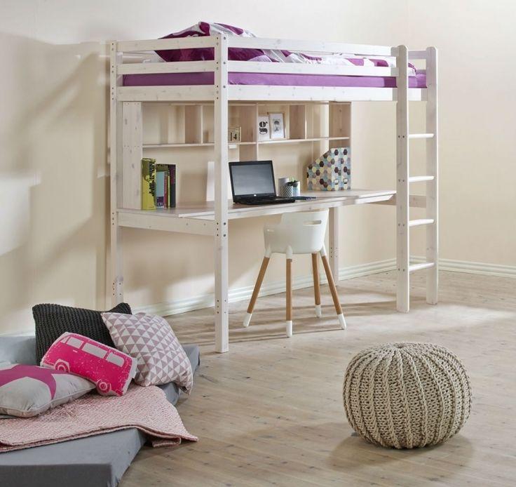 FLEXA Basic HIT hoogslaper, bureau en opzet voor boekenplank