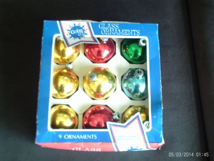 Coby Glass Christmas Tree Ornaments : Lot of vtg coby glass christmas tree ornaments mixed