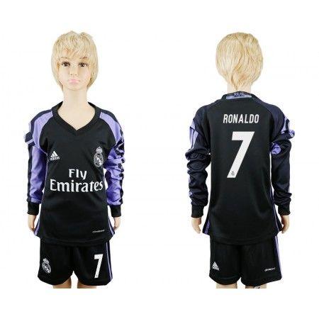 Real Madrid Trøje Børn 16-17 #Ronaldo 7 3 trøje Lange ærmer.222,01KR.shirtshopservice@gmail.com