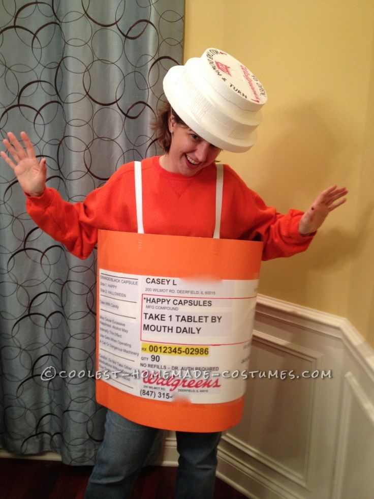 Prescription Bottle Costume... This website is the Pinterest of costumes