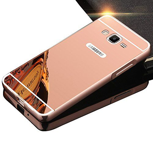 Sunroyal® Samsung Galaxy Core Prime SM-G360 / SM-G361F Miroir Retour Case Ultra mince Coque Etui Housse Aluminium Métal Rim Thin Effet…