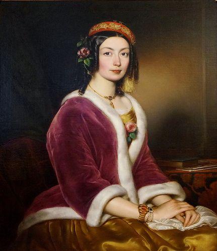 Portrait by Borsos József, painter and photographer