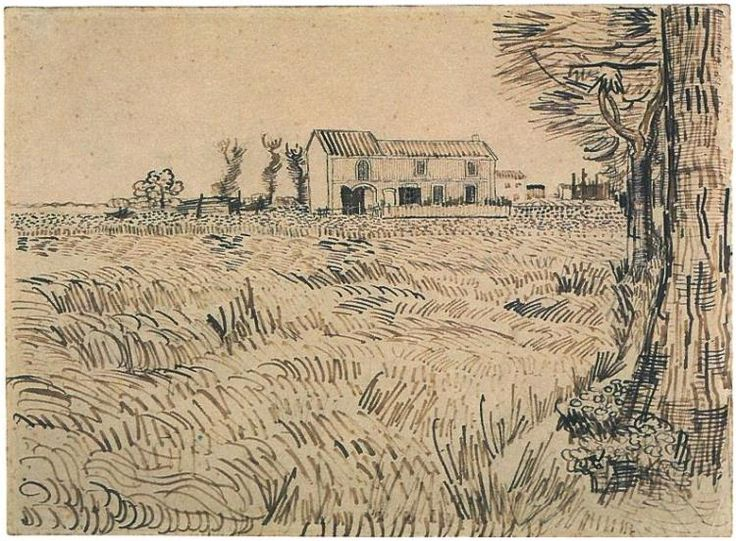Vincent van Gogh Drawing, Pencil, pen, reed pen, brown ink Arles: April - early in month, 1888 Van Gogh Museum Amsterdam, The Netherlands, Europe F:1415,JH:1408