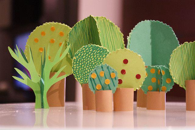 More tiny paper trees | Flickr: Intercambio de fotos