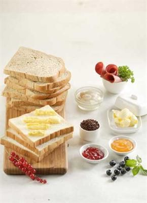 Femina.co.id: Kenali nilai nutrisi dari 'teman' roti seperti margarin, mentega, aneka selai, daging asap, atau telur.