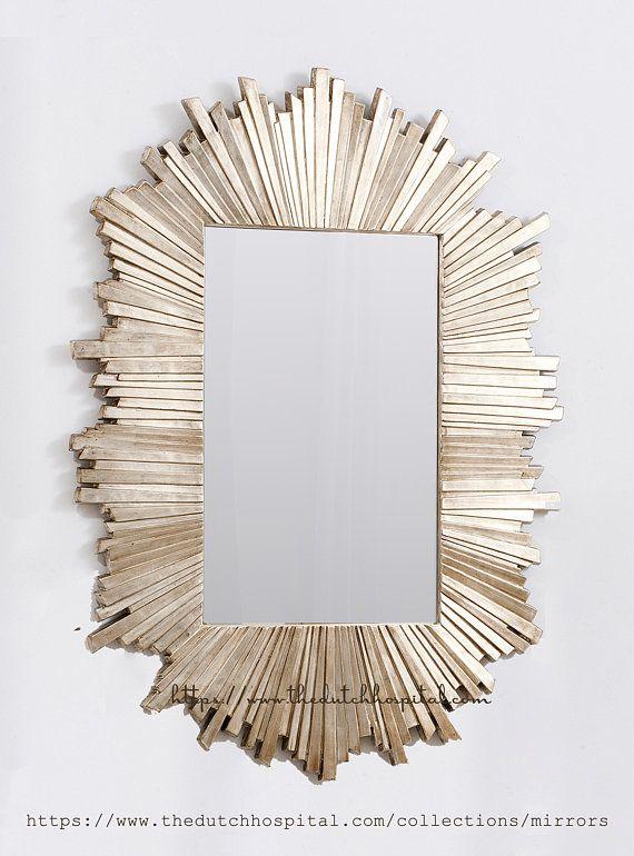 Large Rectangular Starburst Mirror Hollywood Regency Mirror Sunburst Mirror Starburst Mirror Miroir
