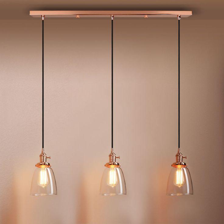 DECOR VINTAGE INDUSTRIAL CLUSTER 1/3 CLOCHE LAMPSHADE LOFT CEILING PENDANT LIGHT