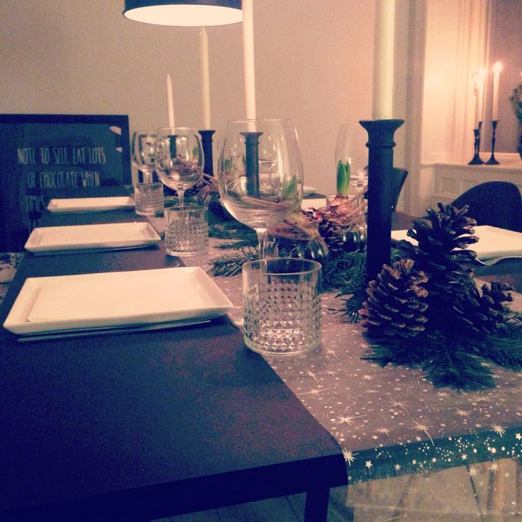 My dining room during a Christmas party #christmas #table #ideas #christmadecor