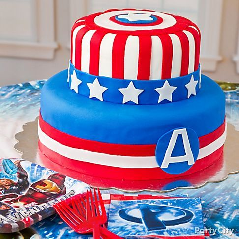 Captain America Cake - Boys Birthday Cake Ideas to Match Every Theme - Party City
