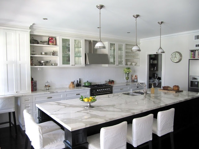 how to clean white marble countertops