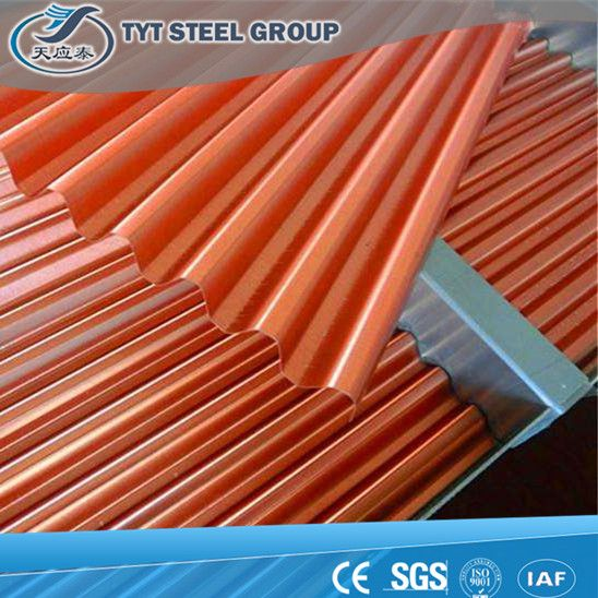 Tian ying Tai hot sale 14 to 28 gauge corrugated steel roofing sheet with factory price