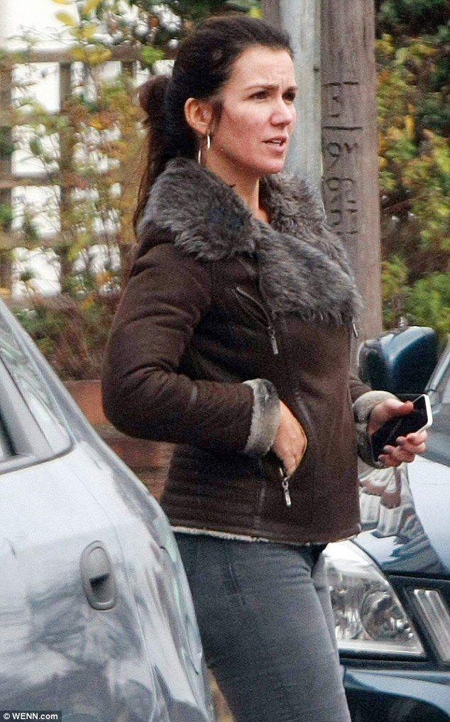 Out and about: Susanna was happy to go make-up free as she ran some errands ...