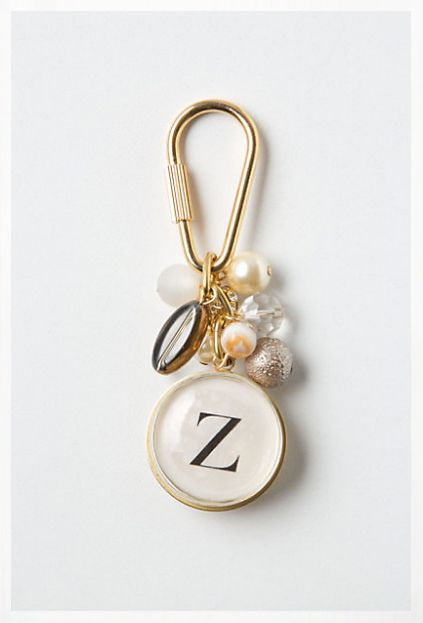 Anthro diy keychain- super cute & looks easy to make