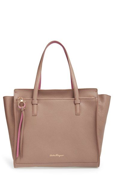08d745c740 Salvatore Ferragamo  Large Amy  Calfskin Tote available at  Nordstrom