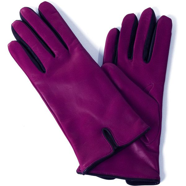 Ladies Purple Colored Leather Gloves from Pierotucci in Florence Italy (6.140 RUB) ❤ liked on Polyvore featuring accessories, gloves, purple gloves, leather gloves and purple leather gloves