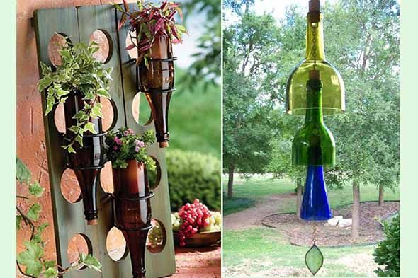 and another clever way to recycle wine bottles!
