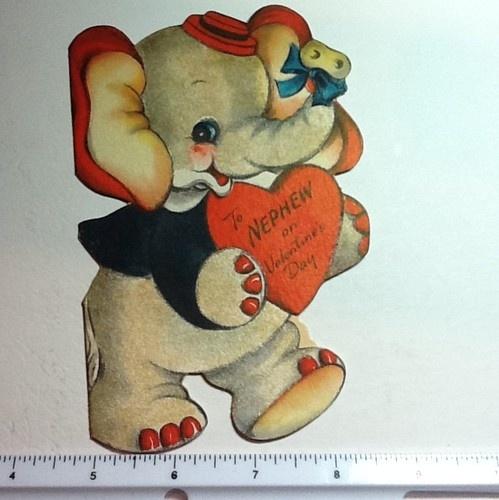 106 best images about Vintage valentine Cards Elephants Hippos – Elephant Valentines Card