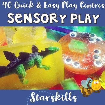 Sensory Play is an integral part of any early childhood program. Here are 40 Super Quick and easy ideas you can feature in your classroom from day to day or week to week. Print off your Sensory Play Centres, laminate them and simply change them when you need to.These ideas are designed to tie in with resources you already have in the classroom from play dough, dinosaurs, pom poms, spaghetti.40 Sensory Play ideas that will save you time and your energy and allow you to spend quality time…