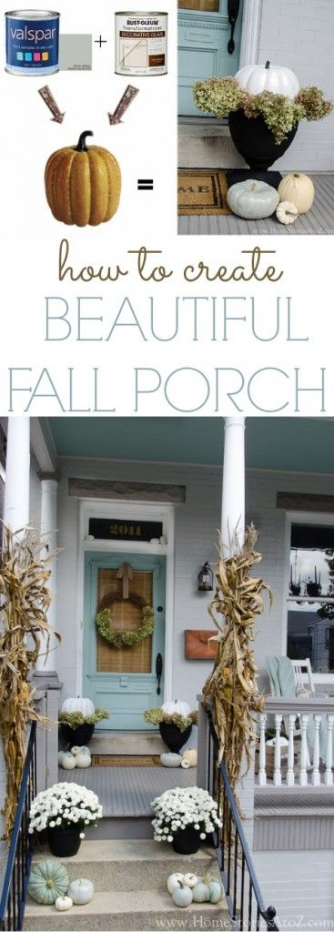 how to create beautiful fall porch