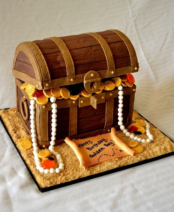 Treasure Chest Cake -- maybe with a baby popping out?