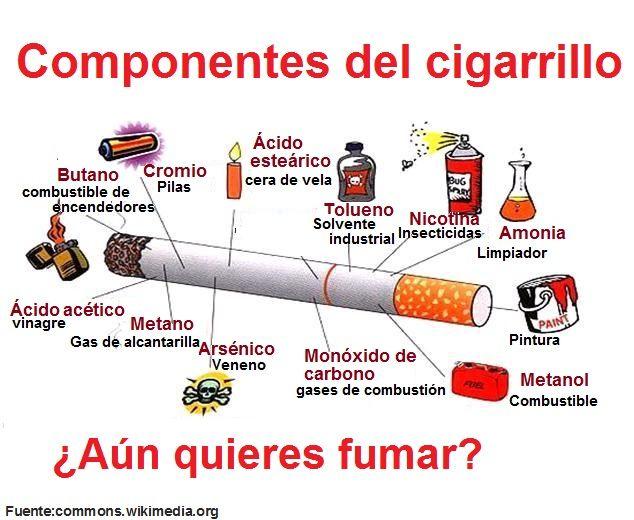 Los componentes de un cigarro