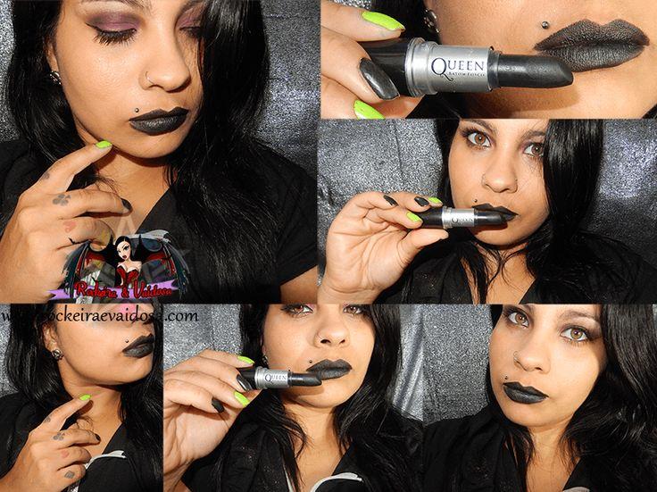 Batom Queen Alternativos (Preto, Verde e Azul) | Rockeira e Vaidosa / Rocker and Vain