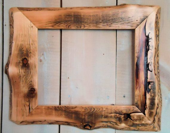 handmade rustic wood frame 11x14 clear poly