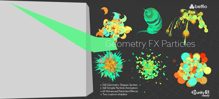 Geometry FX Particles  This package includes over 300 geometrical and cartoon style effects. It's very easy to customize and creat new one with over 160 sprites to bring those shapes to life. Update 1.1. Introduce to you 82 brand new effetcs. This update includes Energy Fields, Fire, Fraction Colors Effects, Blizzards, Clouds, Rains, Rays, Smoke, Thunder. We also give you sample scene with some cool preview models from LowPoly Strategy Prototyper Asset.  » » » Interactive Geometry WEB…