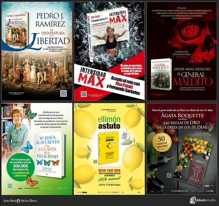 Algunas piezas de publicidad para prensa que he realizado esta temporada para La Esfera de los Libros