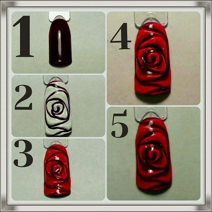 дизайн ногтей розы фото пошагово есть самая дальняя