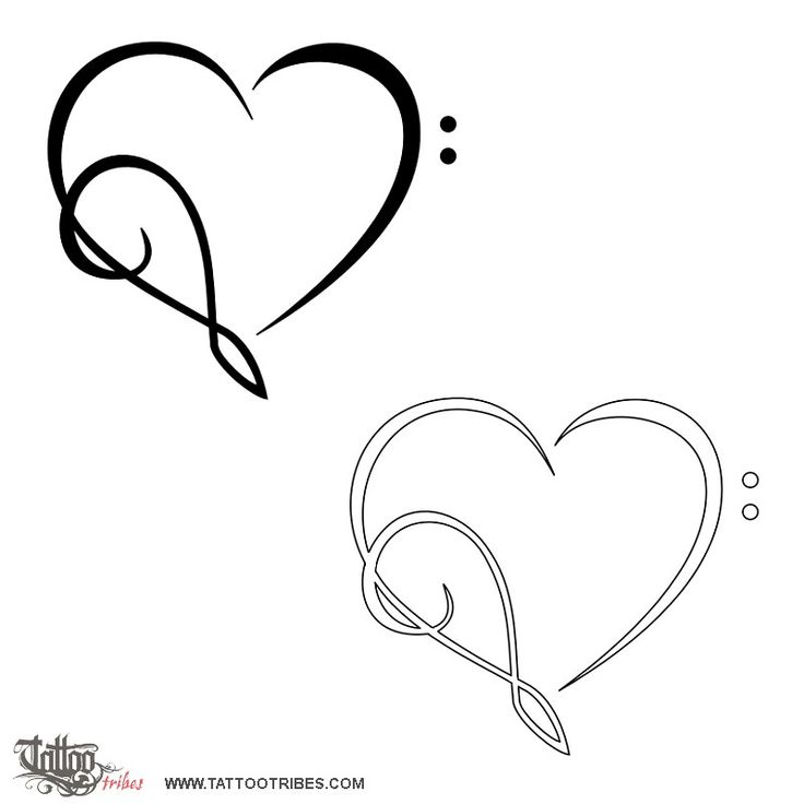 Musical heart! 2nd idea after dolphin heart for my daughter tat