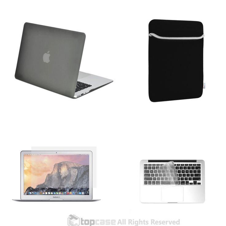 "TOP CASE 4 in 1 - Macbook Air 11"" Matte Case + Sleeve + Keyboard Skin + LCD - GRAY"