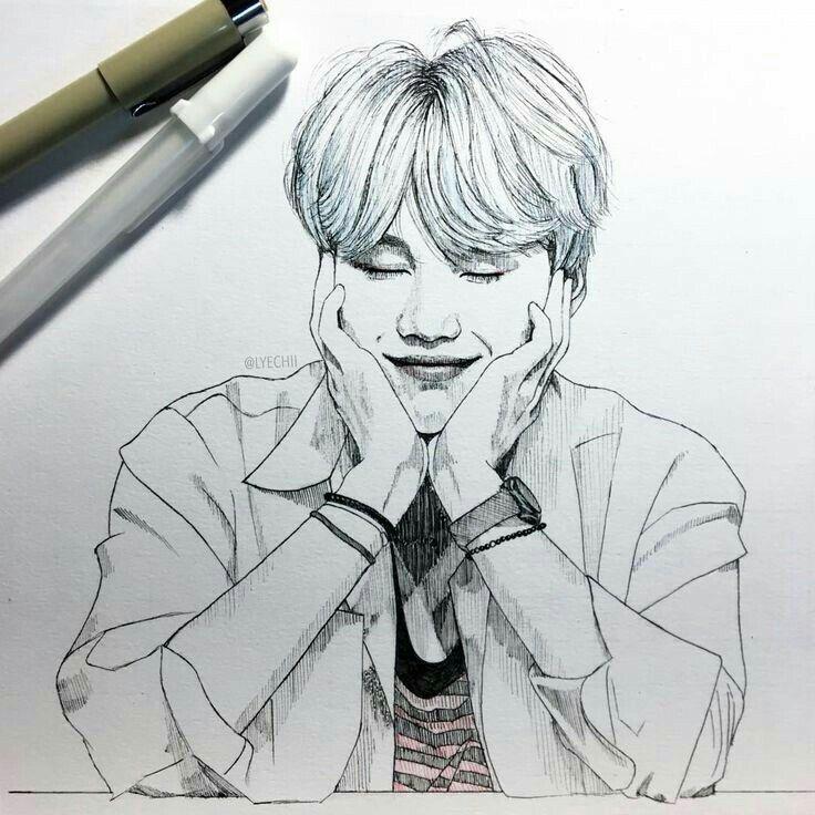 Bts Suga Min Yoongi Fanart Bts Drawings Bts Fanart Kpop Drawings