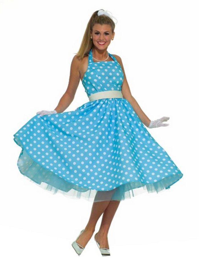 50er Jahre Rockabilly Rock´n Roll Kleid mit Petticoat Damenkostüm