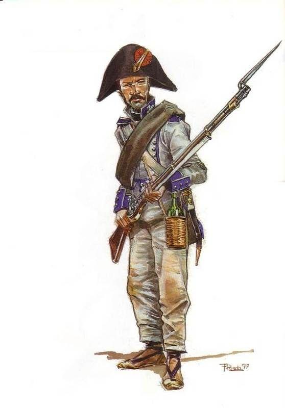 Fusilier Regimient Órdenes Militares  at Bailén, 1808 by Francisco Rueda Sagaseta.