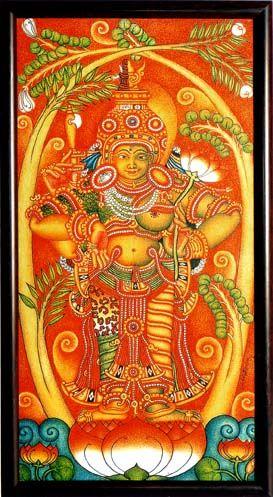 Kerala murals a close study of kerala mural paintings for Egyptian fresco mural painting
