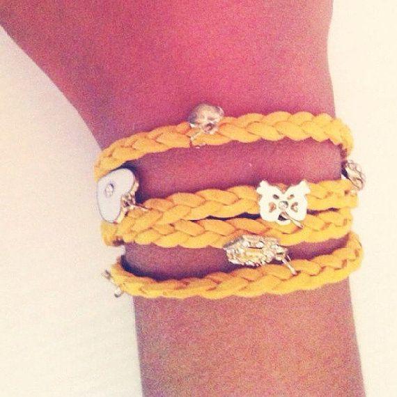 #Bracelet #shopping #fashion #braidedbracelet #lindsaystuff #charm Facebook Page https://www.facebook.com/LindsaysStuff?ref=hl