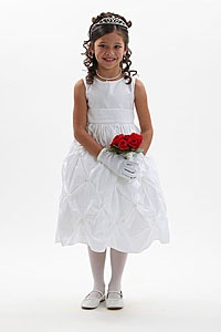 Corals, Peaches, Oranges - Flower Girl Dress For Less