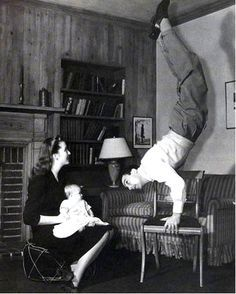Gene Kelly (1943), his wife Betsy and their first child in the home ...
