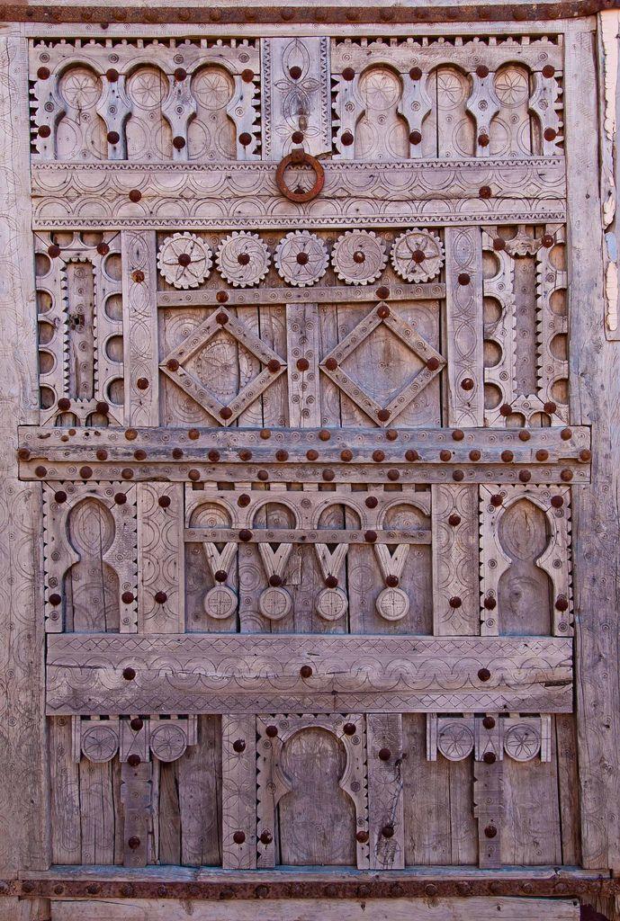 Africa | Carved wooden door.  Morocco | © Alan D Hoare ~ Alspict, via flickr