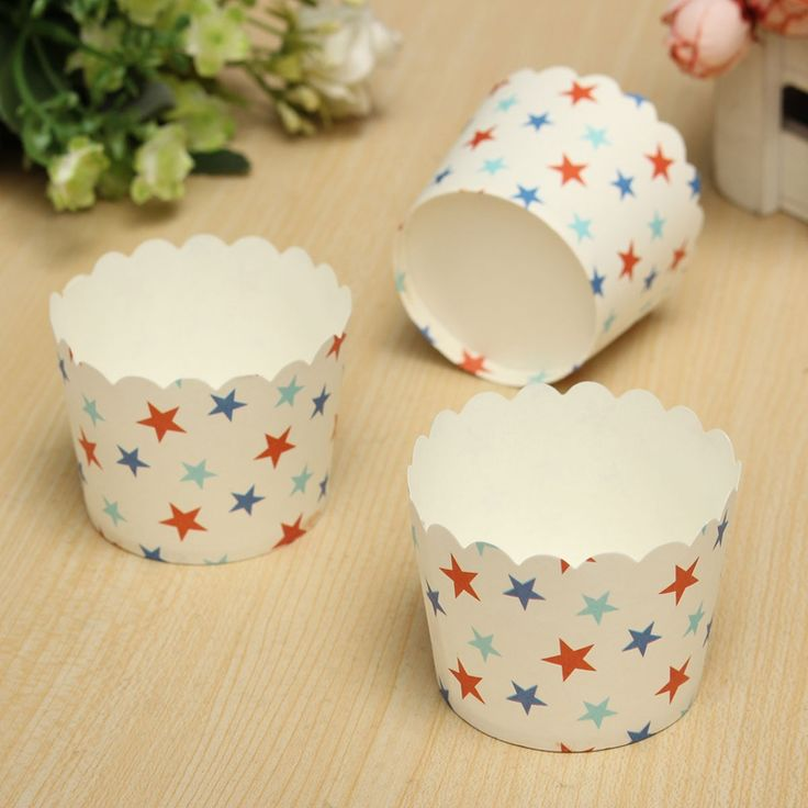 Goedkope Hot Selling Color Send Randomly 50 PCS Paper Cake Cup Liners Baking Cup Muffin Kitchen Cupcake Cases, koop Kwaliteit   rechtstreeks van Leveranciers van China:  	 			Material:Paper		Quantity:50		Color:Pink,White,Dark Blue,Light Blue		Open up diameter:60mm		Height: 46mm		Bott