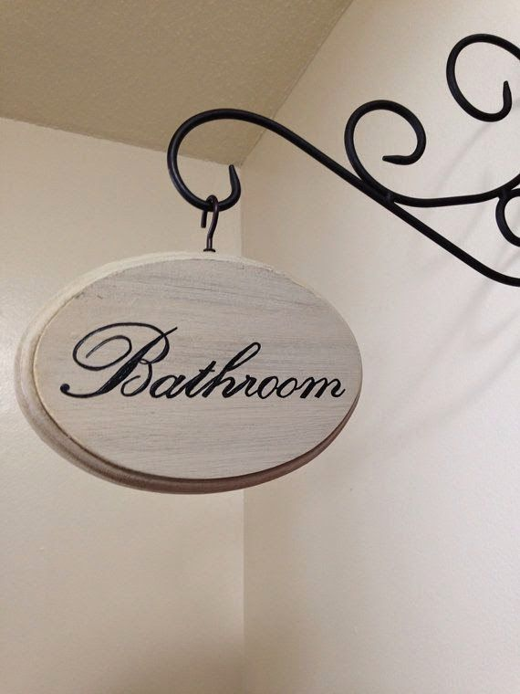 Accesorios De Baño Que No Se Oxiden:Adorable Bathroom Sign