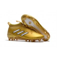 Botas de fútbol de hombre Adidas ACE 17+ PureControl FG Dolado Blanco
