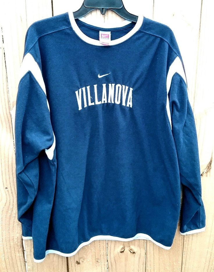 Villanova College NIKE TEAM Fit Therma shirt XL fleece by Fchoicevintage on Etsy
