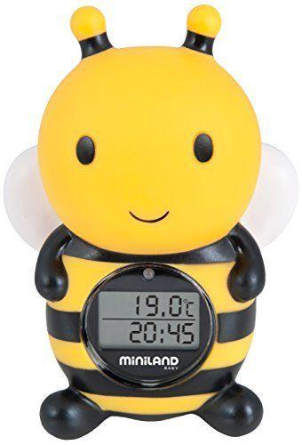 MINILAND – Thermométre de bain bébé Abeille: Tweet Le thermomètre de bain et atmosphère Mesure la température de l'eau du bain et la…