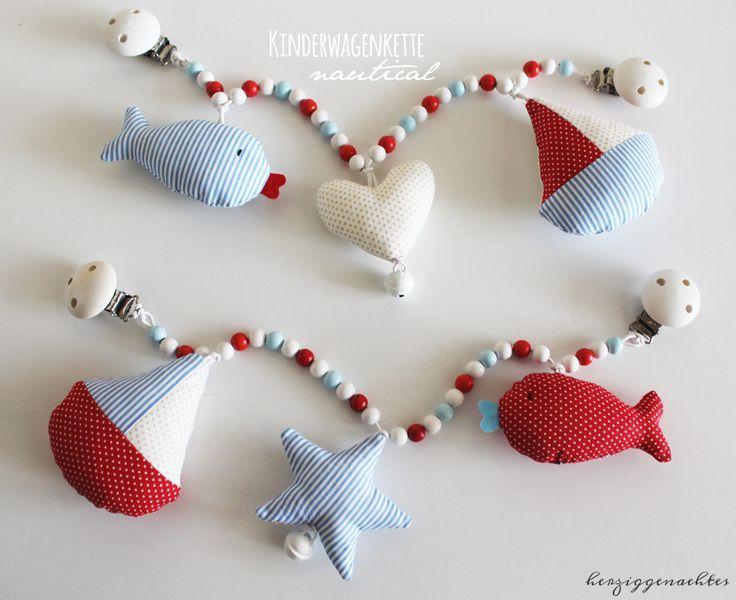 Kinderwagenkette Nautical Kinderwagenaccessories von Handmade by Herzig ♥ Genaehtes auf DaWanda.com