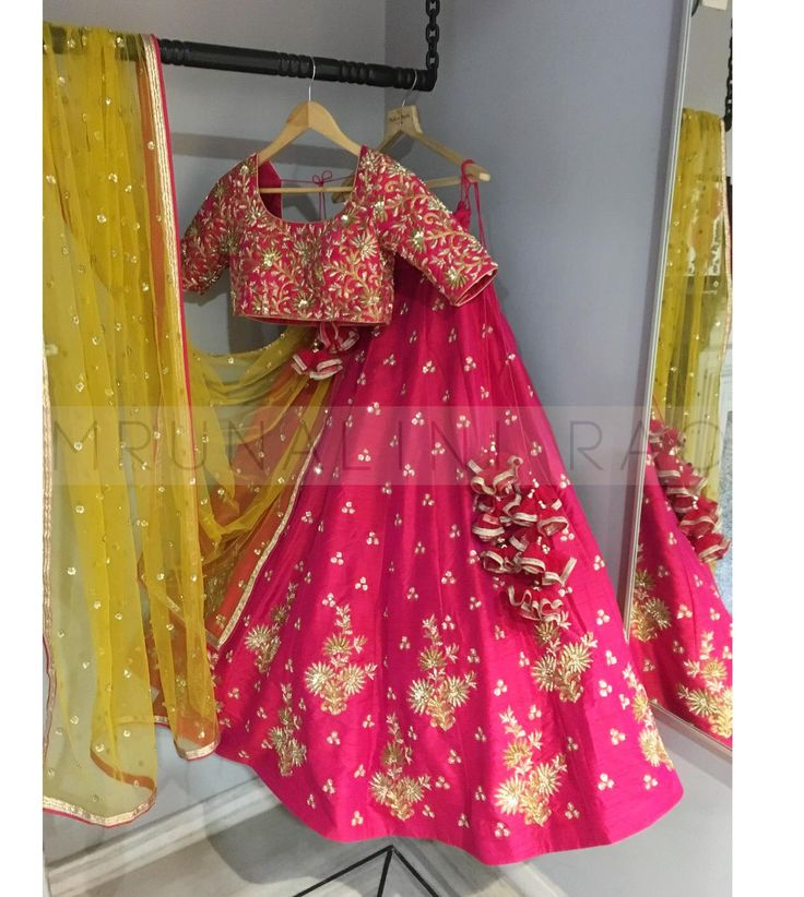Stunning pink color lehenga and choli from Mrunalini Rao.Newest addition to  ongoing collection  koela.  01 June 2017