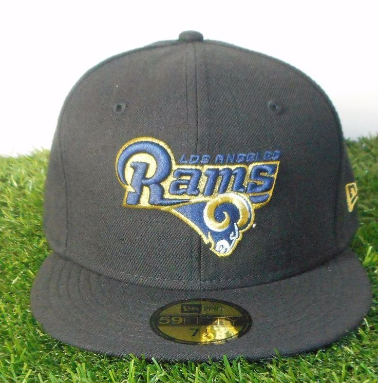 Los Angeles LA RAMS Hat NEW ERA 59Fifty Black/Navy 100% Wool Officially Licensed #NewEra #LosAngelesRams