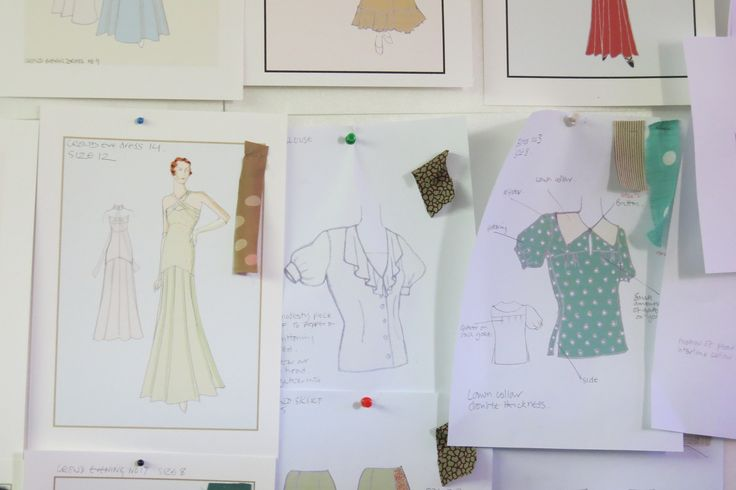 Fabric samples and costume sketches from Indian Summers Costume Designer Nic Ede | Courtesy of Rebecca Eaton for MASTERPIECE