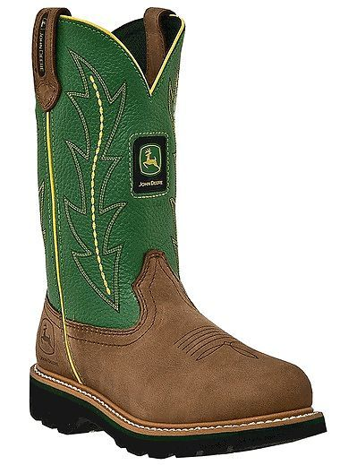 Green John Deere Boots - I'm still kickin' myself for not getting these for  my wedding. Find this Pin and more on Womens Cowboy ...